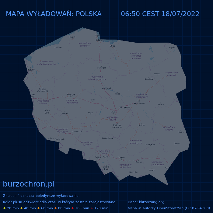 Mapa wyładowań